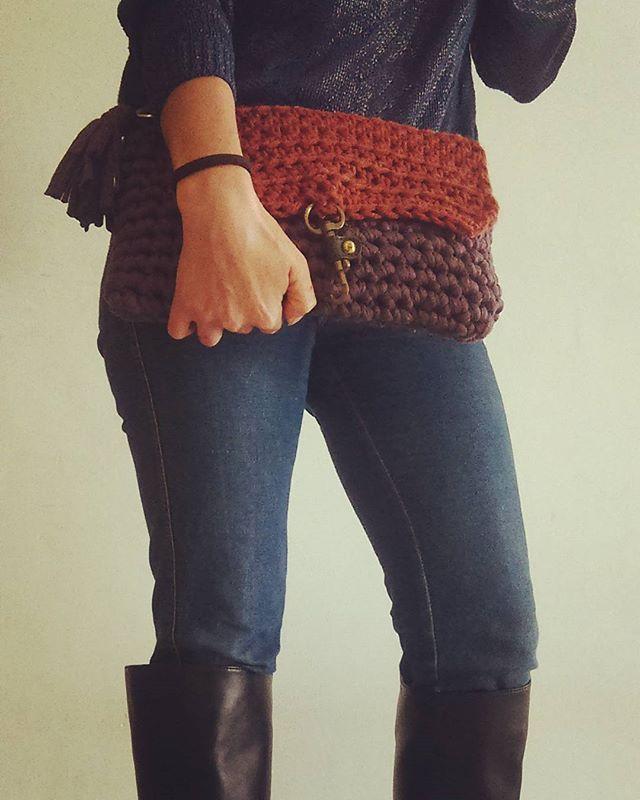 вязание рюкзака из трикотажной пряжи
