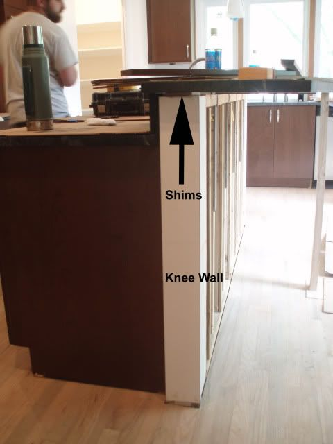 Kitchen Island Knee Wall simple kitchen island knee wall design bar kneewall n and decorating