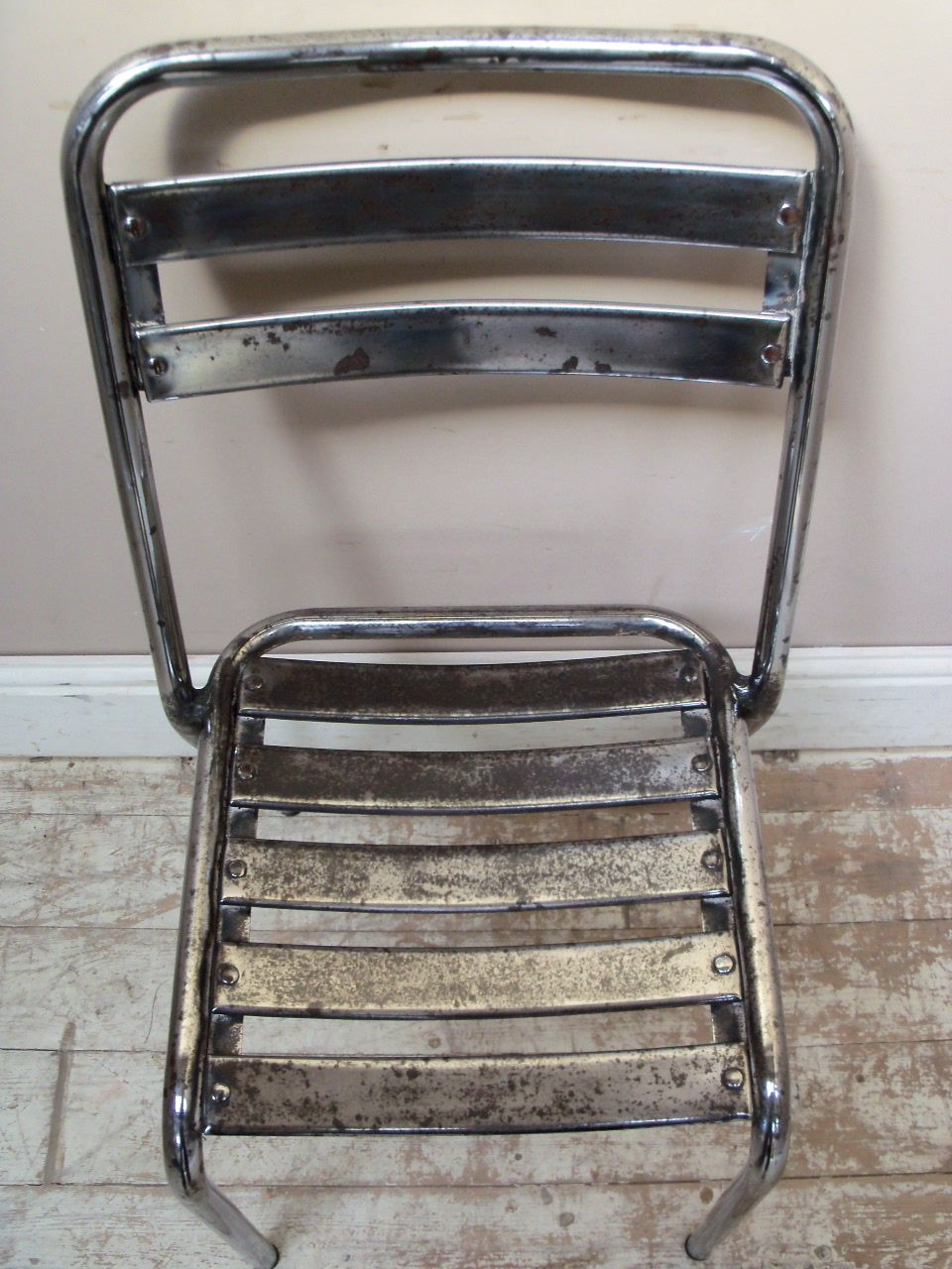 Super Shiny Polished Vintage Steel (Furniture)  French bistro