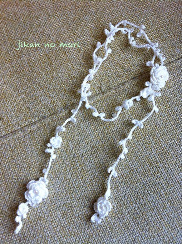 crochet lariat necklace