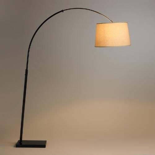 Loden Arc Floor Lamp Base Brown Metal By World Market