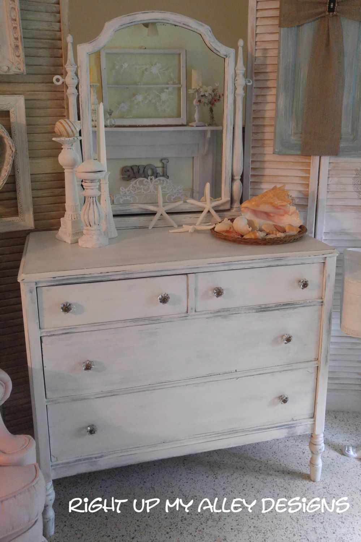 Vintage Dresser White Dresser Shabby Chic Dresser And Mirror White