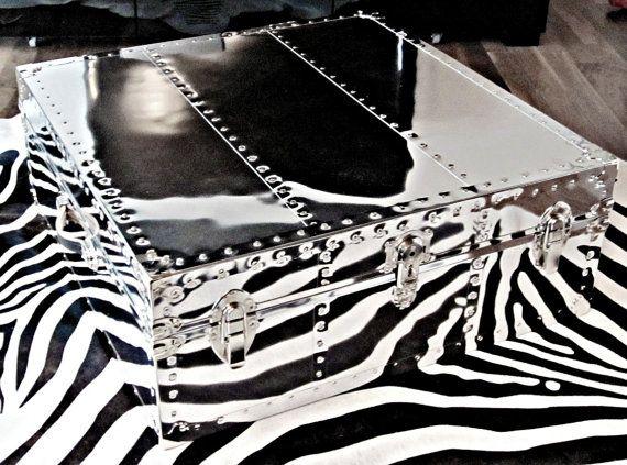 mg #decor: mirrored aviator coffee table, adore mirrored furniture