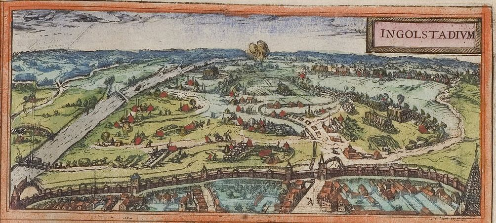 1572 Ingolstadt By Georg Braun And Frans Hogenberg Before 1540 90