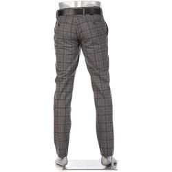 Photo of Alberto Herren Chino-Hose Lou, Regular Slim Fit, Ceramica, graphit kariert grau Alberto