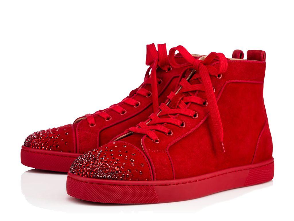baskets louboutin rouge