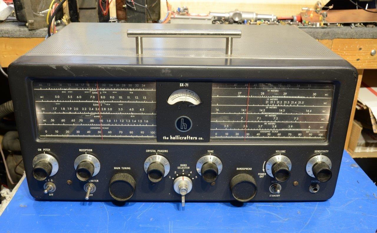 Hallicrafters Sx 71 Ham Radio Short Wave Vacuum Tube Receiver
