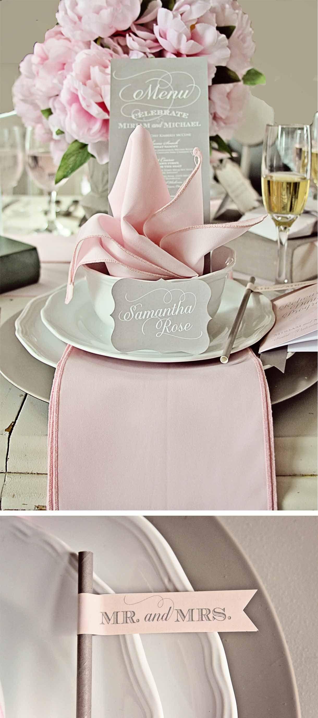 Loralee Lewis Pink Table Settings Wedding Table Pink Wedding