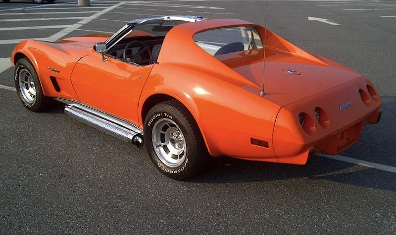 Example of Orange Flame paint on a 1976 GM Corvette