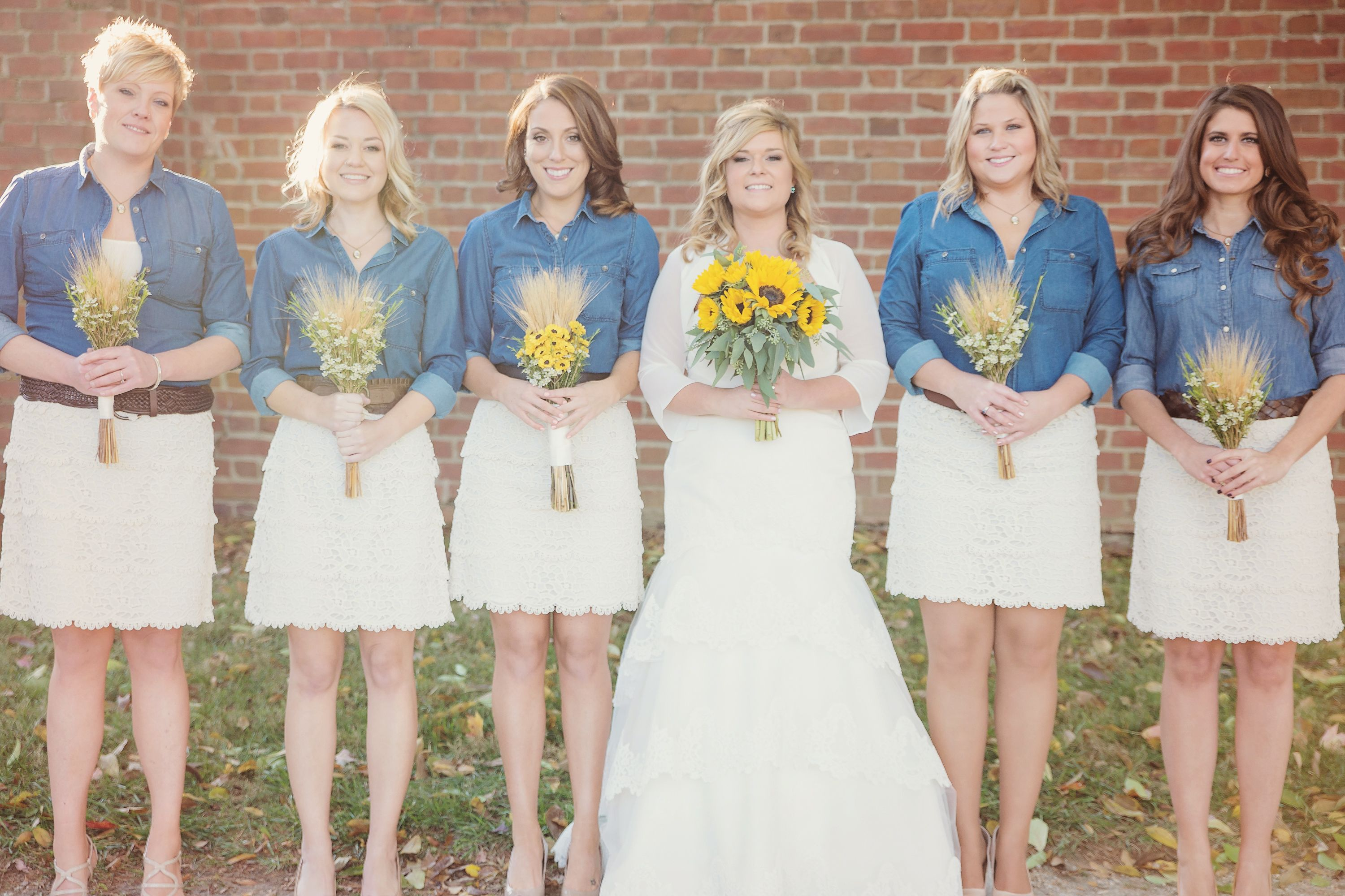 Lace and Jean Wedding Dress