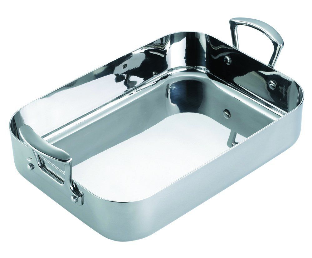 Scanpan Fusion 5 13-3/4-Inch-by-9-1/4-Inch Roasting Pan ** You can get more details here : Roasting Pans