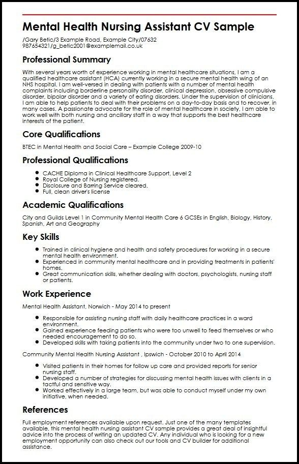 Great Newly Qualified Nursing Cv Template Gallery di 2020