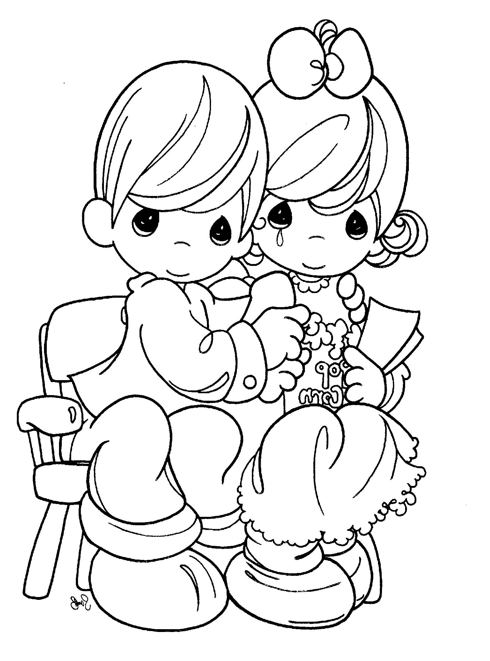 Precious moments coloring pages are being embraced precious