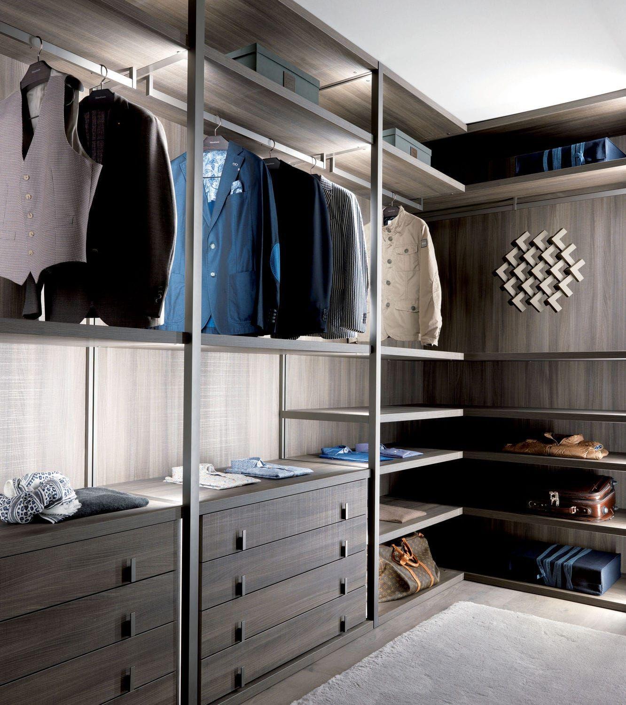 Cabina armadio ad angolo / moderna / in legno / su misura