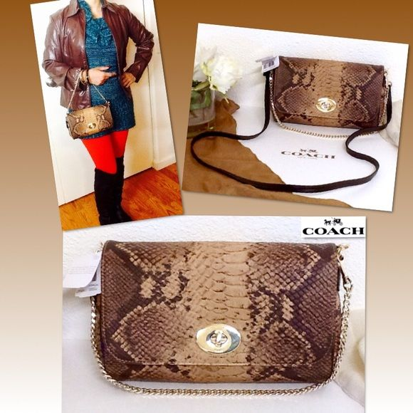 7c05d43eba1 🎀HP🎀 Coach Snake Mini Ruby Cross Body Bag Keep your look classic and  sophisticated
