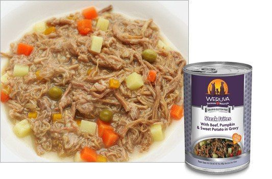 Weruva Dog Food - Grain Free Steak Frite with Beef, Pumpkin and Sweet Potatoes in Gravy