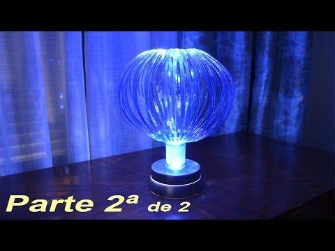 Lampara globo push con materiales reciclados. 1ª Parte - YouTube