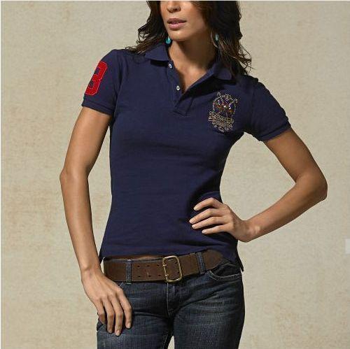 Cheap Ralph Lauren Women's Multicolor Match Crest Polo Shirt Na