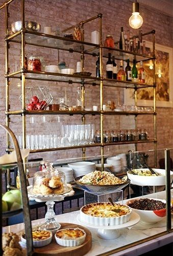 French Cafe Kitchen Decor Ideas: French Bistro Shelves In The Kitchen