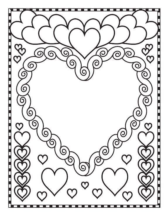 Coloriage coeurs de princesse 2014 valentine 39 s day - Coloriage de coeurs ...