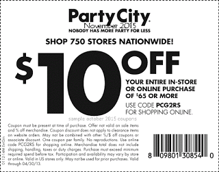 Party City Coupons Party City Free Printable Coupons Printable Coupons