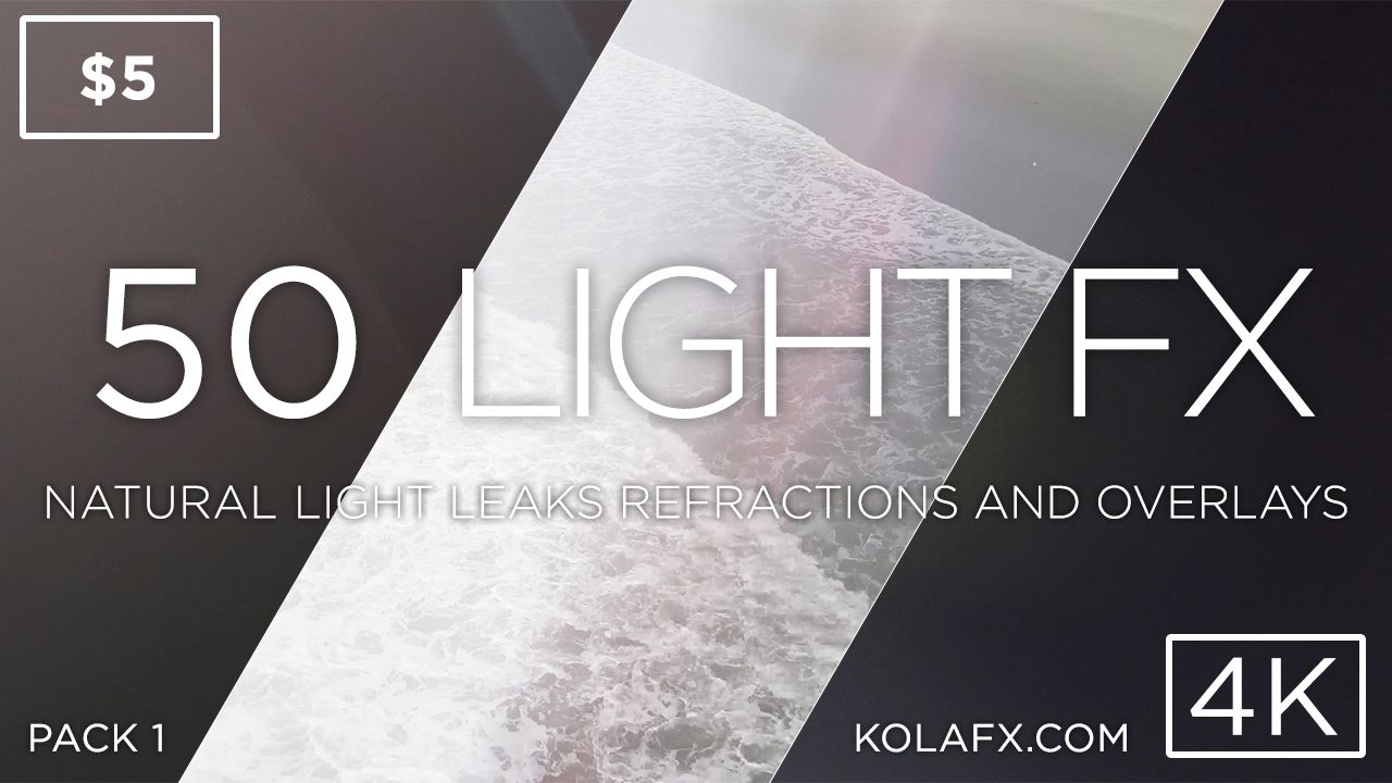 Free pack of 15 lens flare and light leak clips in 4k