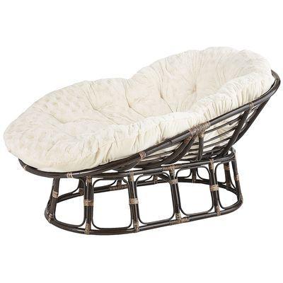 Loungeasan Taupe Bowl Papasan Chair Papasan Chair Living Room