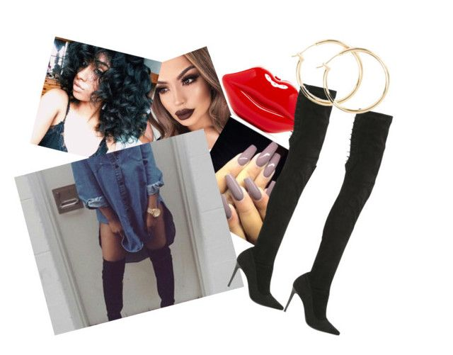 """""""How many bishes do it take to knock me down you know bishes gone hate but ion give a F*CK!!"""" by paigedenaiya ❤ liked on Polyvore featuring Strategia and IamPaigeDenaiya"""