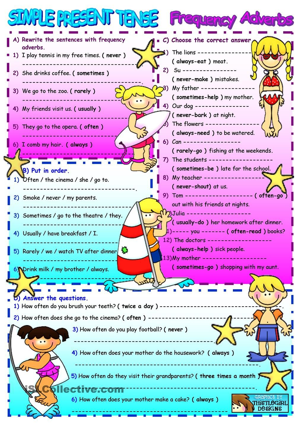 Frequency Adverbs/Simple Present Tense | ADVERBS | Pinterest ...