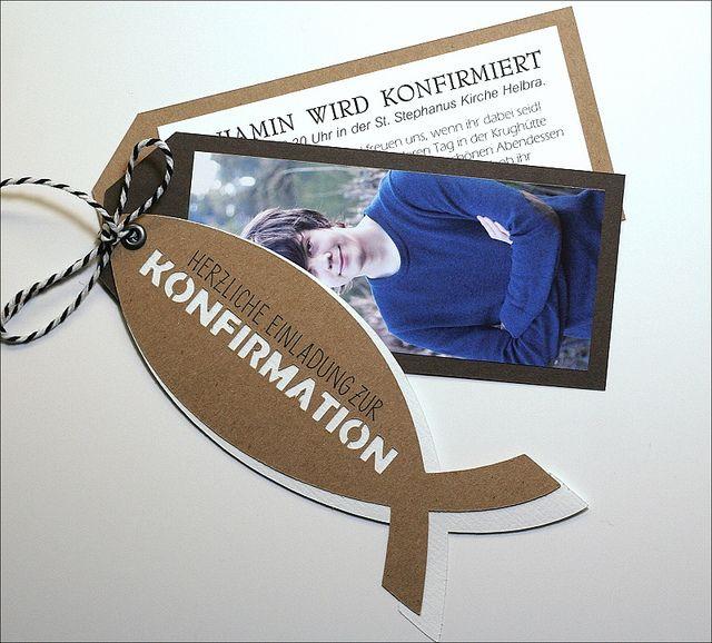 Bille Scrapt: Einladung Zur Konfirmation
