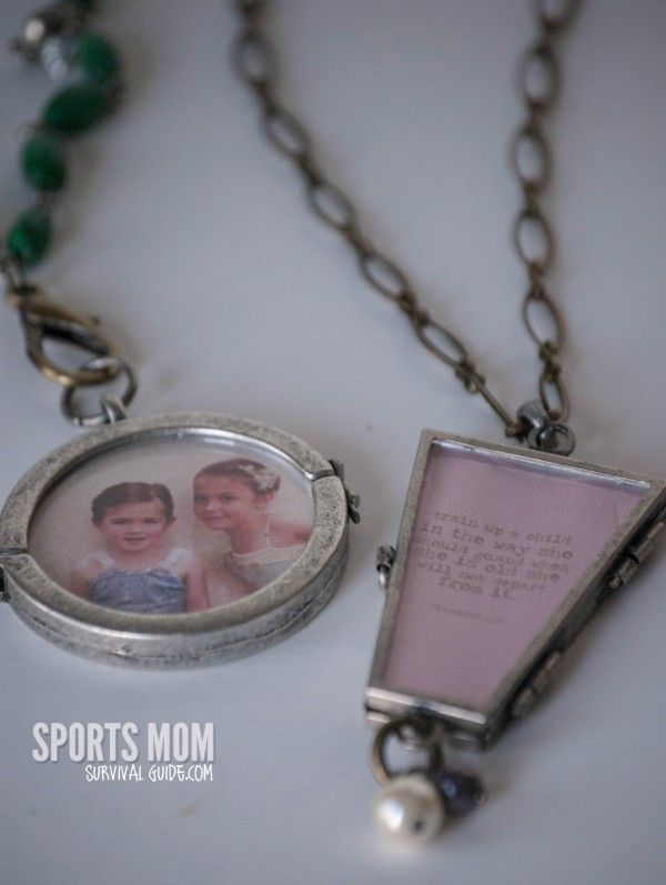how to make personalized necklace charms for young girls and moms