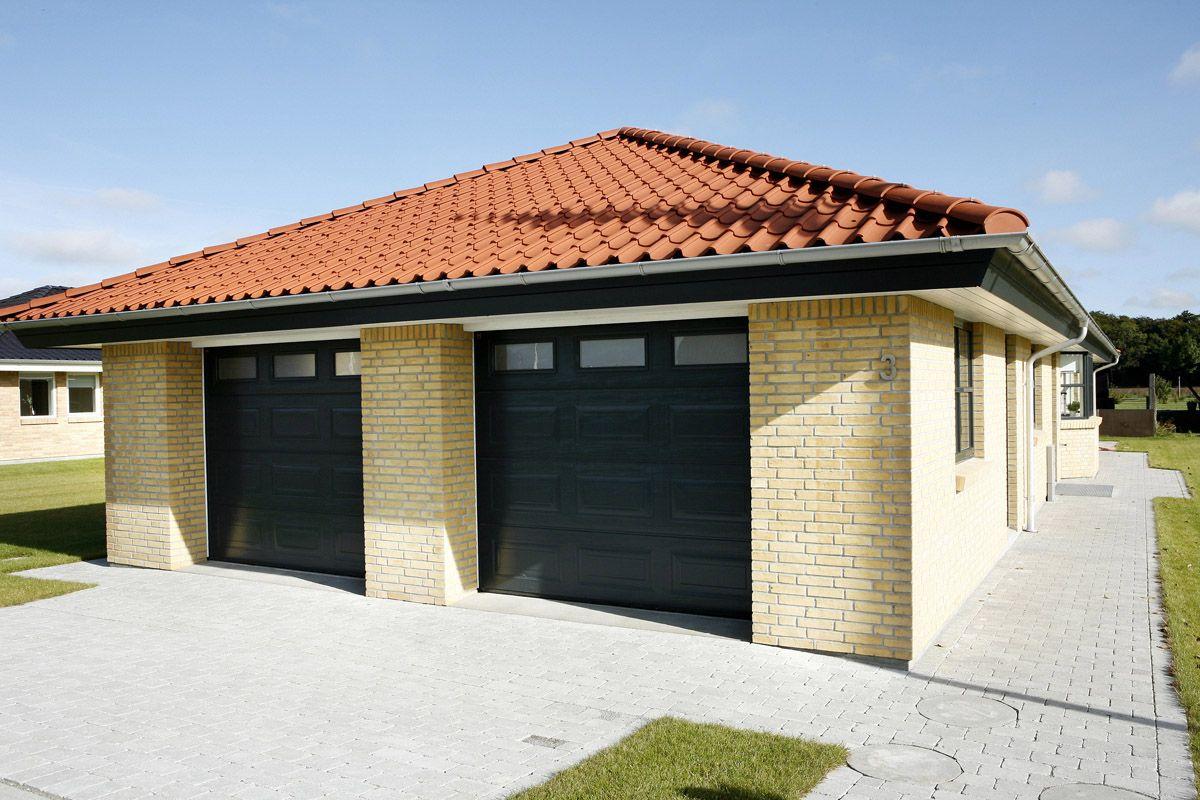 Dobbelt garage. Integreret Huse, Køkkendesign, Garage