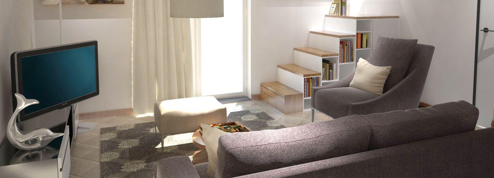 Arredare un soggiorno con tante aperture sulle pareti (con ...