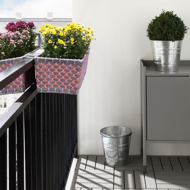 Jardinière pot de fleurs pour terrasse ou balcon très déco