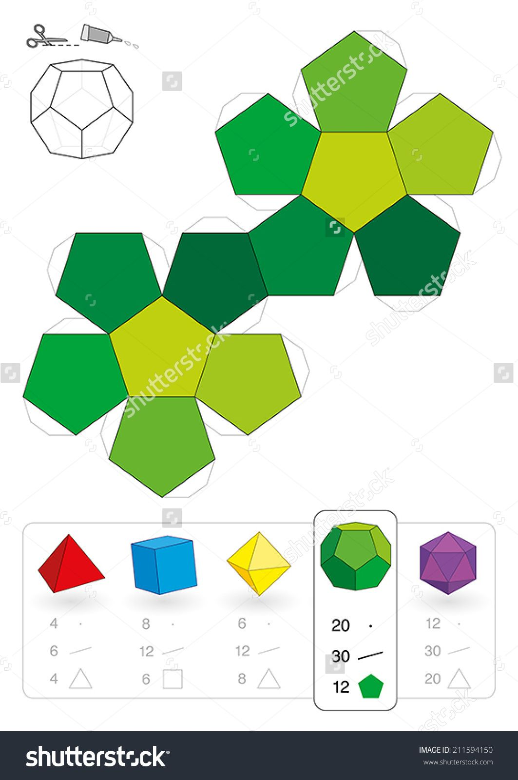 Cardboard Templates For Polyhedrons Google Search Polyhedron