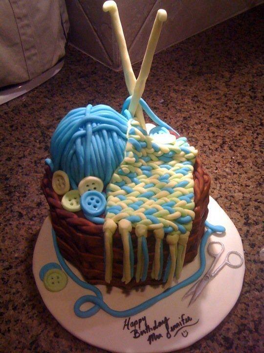 Knitting Birthday Images : Crochet cake knitting birthday