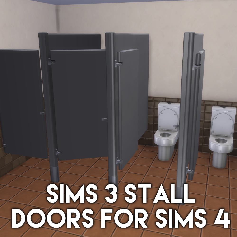 Sims 4 Arch129sims 3t4 Bathroom Stall Doors Conversion Mode Community Lot