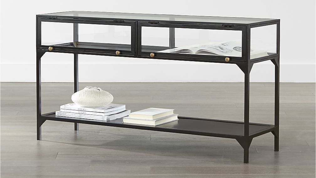 ventana console table crate and barrel 3680033 overall. Black Bedroom Furniture Sets. Home Design Ideas