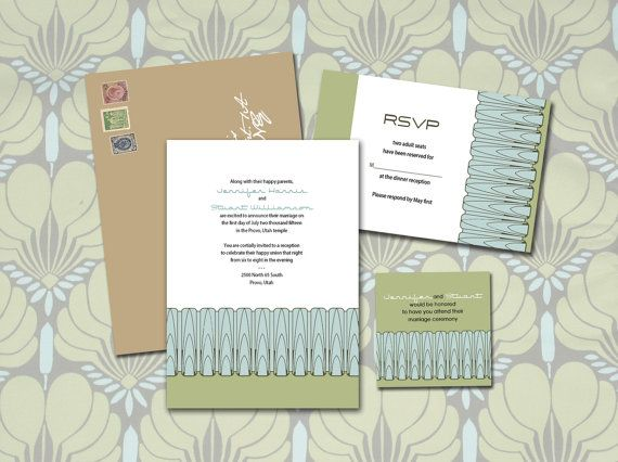Art Deco Arches, Printable Wedding Invitations