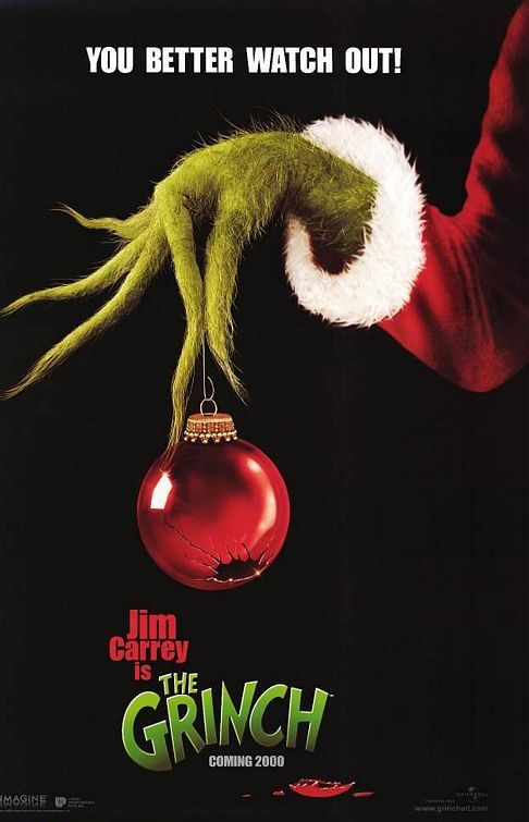 Dr Seuss How The Grinch Stole Christmas Movie Poster The Grinch Movie Grinch Stole Christmas Best Christmas Movies