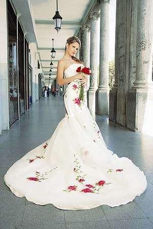 vestidos de novia con flores de colores, parte 1 | novias y fiesta