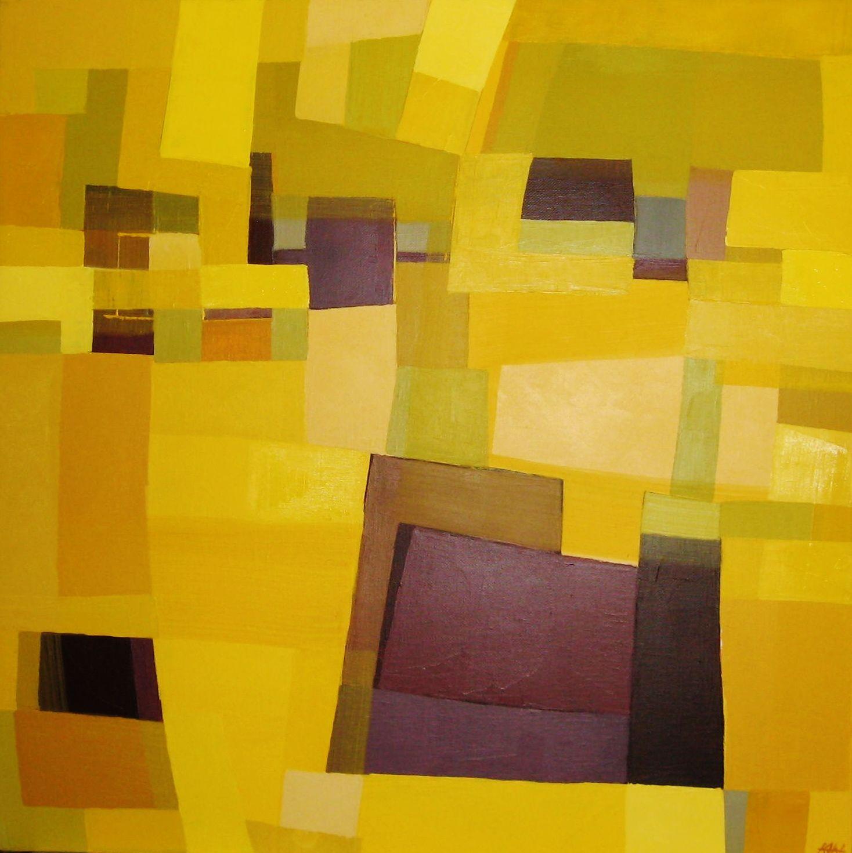 """Purple cube""                                                 Artist Karin Hay White"