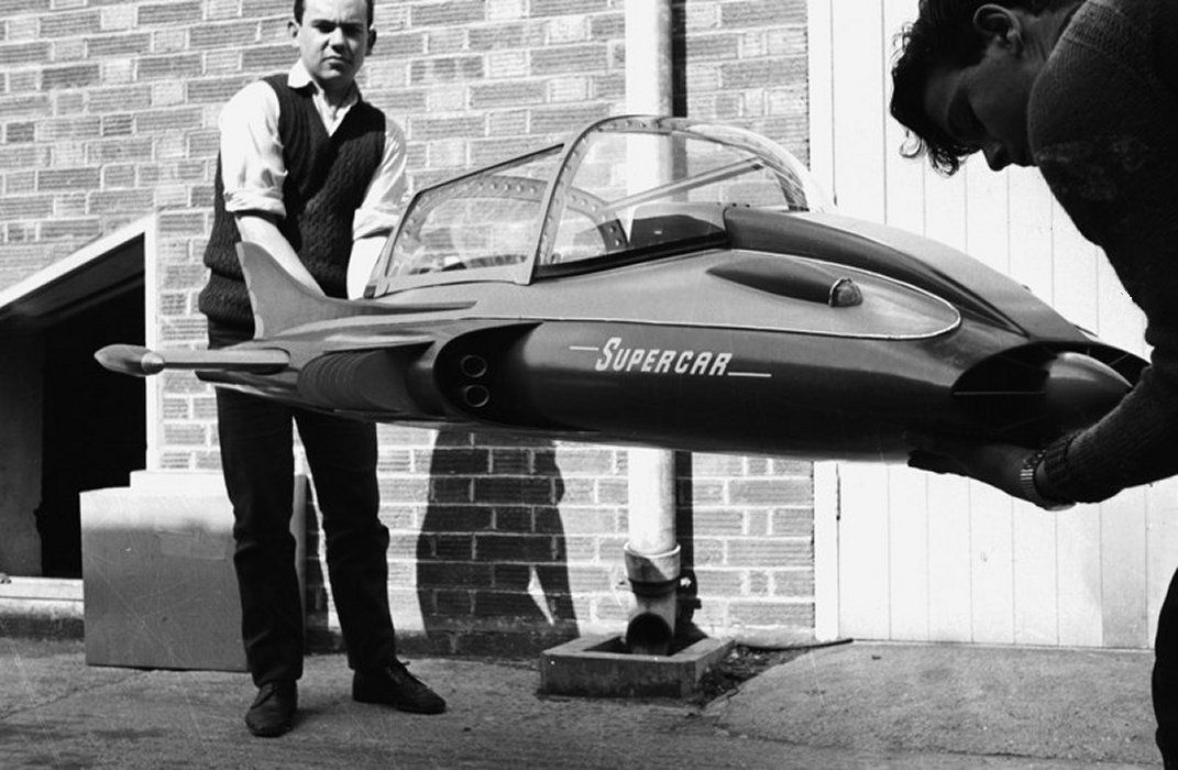 Large Scale Supercar Filming Miniature From The Gerry Anderson Tv Series Supercar Gerry Anderson Super Cars Thunderbirds Are Go