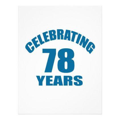 Celebrating 78 Years Birthday Designs Letterhead - #office #gifts - birthday letterhead