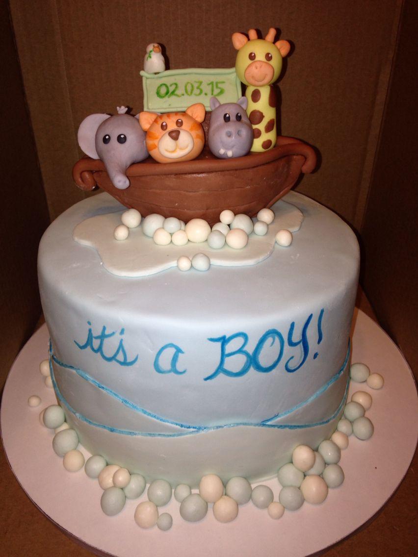Noah's Ark Baby shower cake