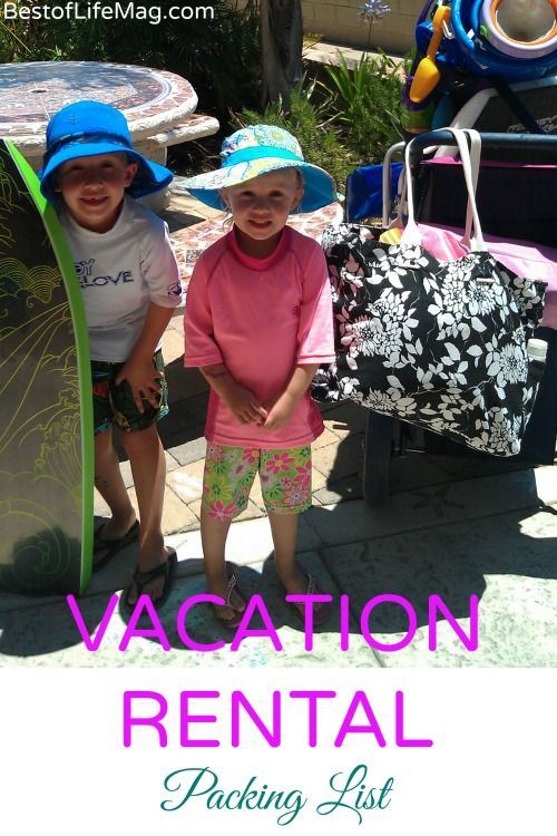 Printable Vacation Rental Packing List | Beach, Travel packing ...