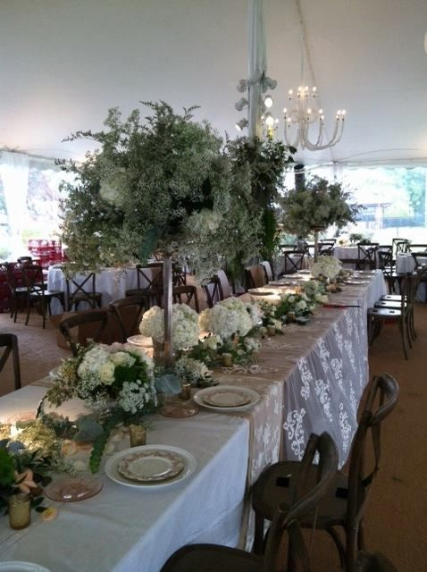 artquest ltd floral head table design at edgewood valley country rh pinterest com