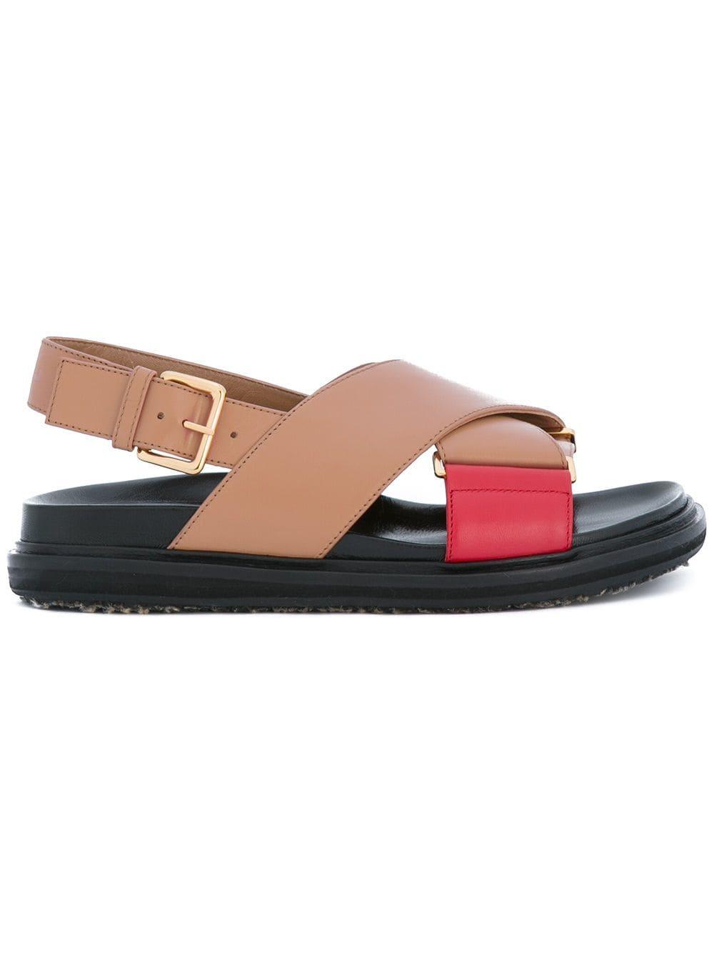 Marni Sandalias Cruzadas Fussbett Farfetch Marni Sandals Fashion Sandals Sandals