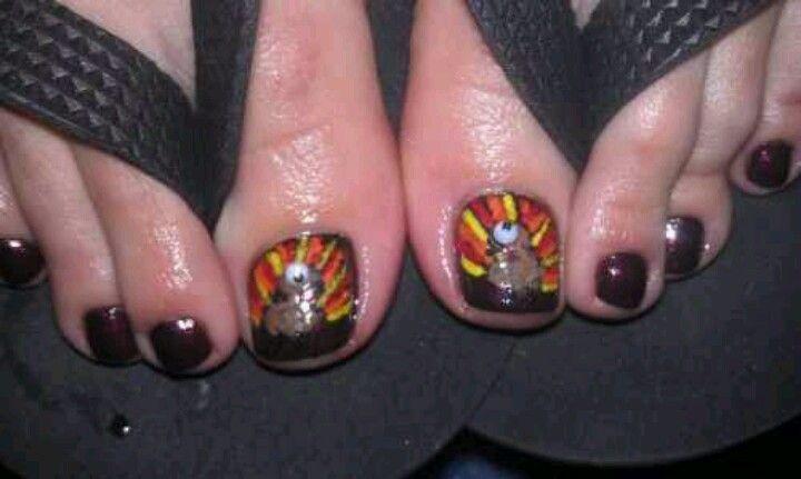 Turkey Toes Nails Thanksgiving Pinterest