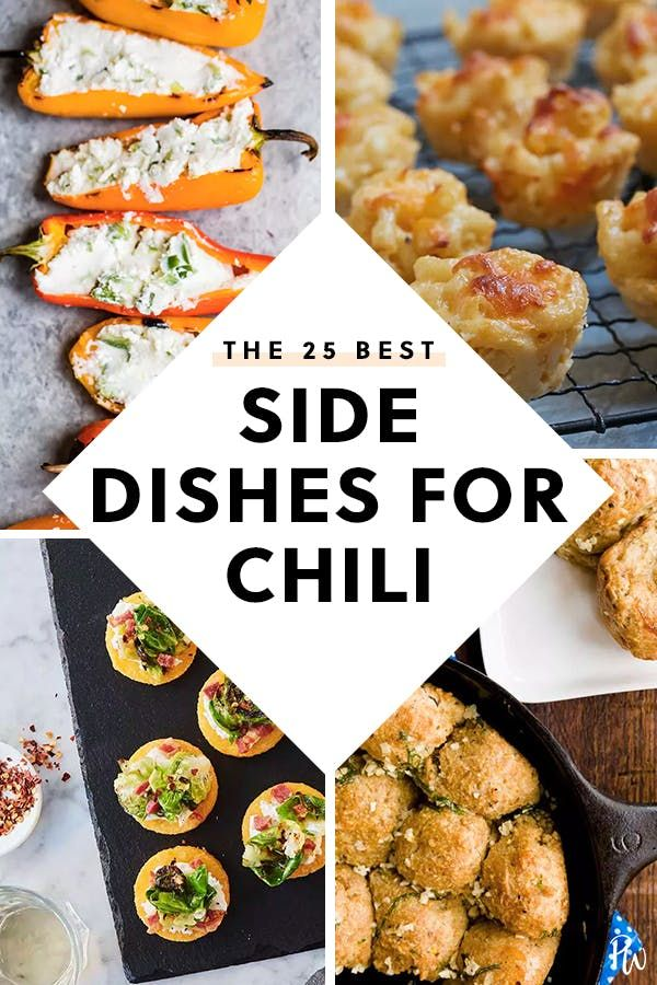 The 25 Best Side Dishes for Chili #chilibar